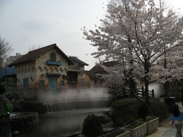 A Fountain in the Korean Folk Village, Suwon
