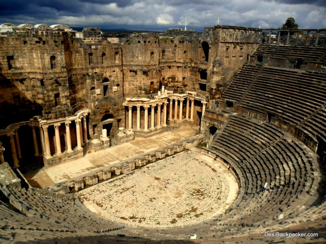 A View of the Massive Amphitheater of Bosra