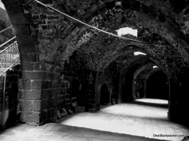 Corridors at Bosra Amphitheater