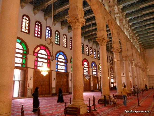 Worshippers at the Umayyad Mosque, Damascus