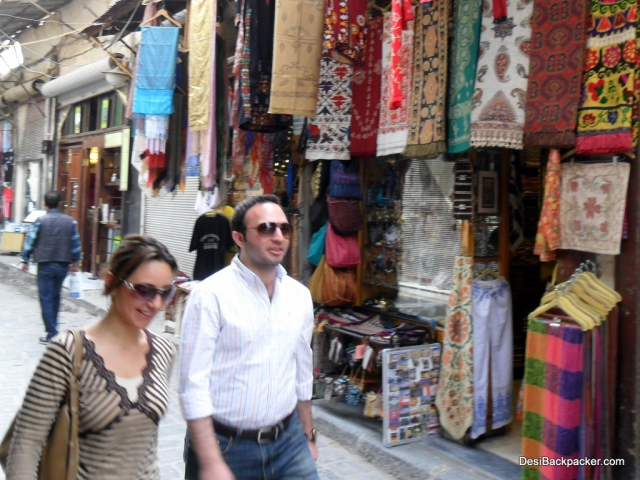 People on the streets: Damascus, Syria