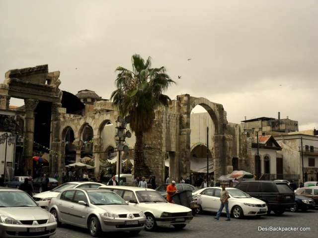 Ruins at the Entrance to the Hamidiyeh Souq