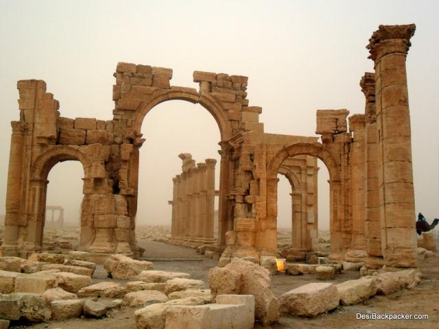 Sandstorm in Palmyra