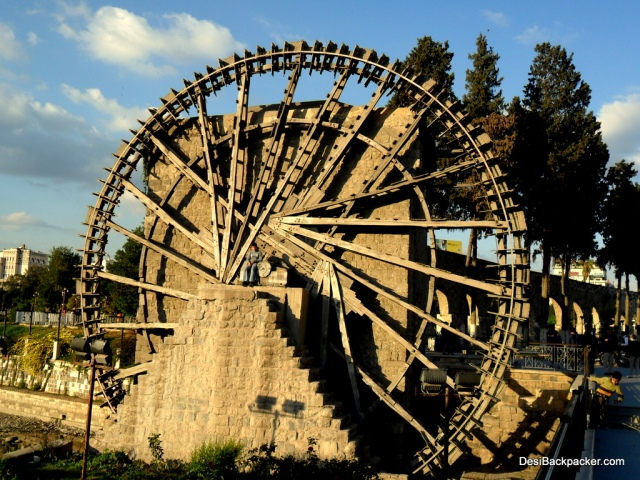 A Noria (waterwheel) at Hama