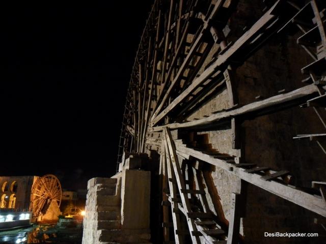 Hama Norias at Night