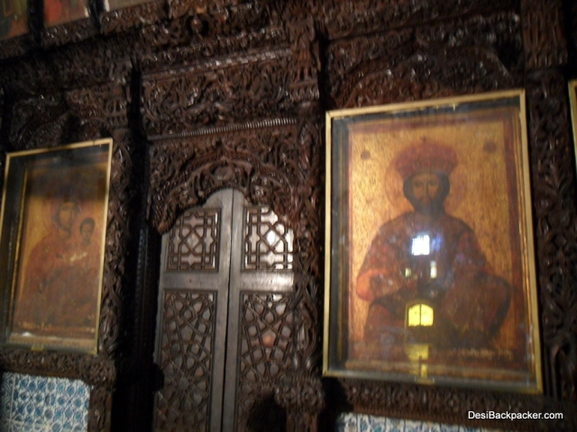 Inside the Monastery of St George