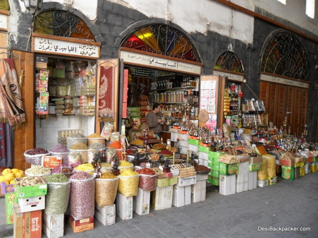 One of the very few shops that were open that day in the Souq