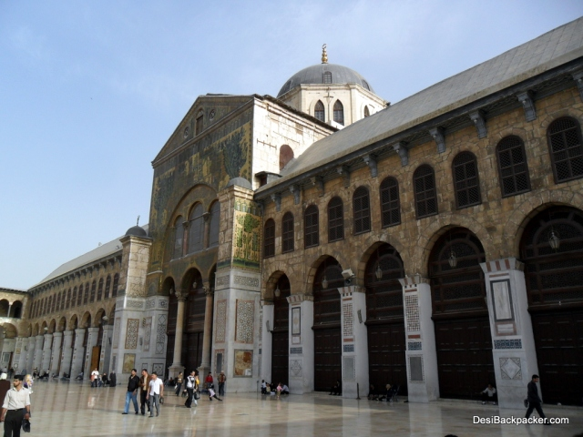 Interior of the Umayyad Mosque in Damascus